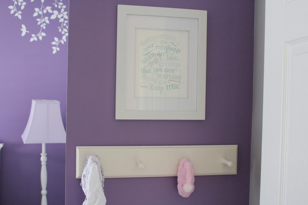 Lavender Girl Nursery Hooks