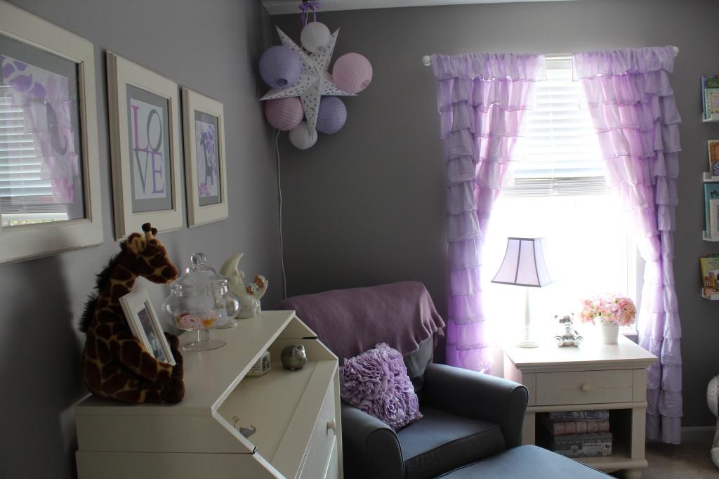 Lavender Girl Nursery Glider