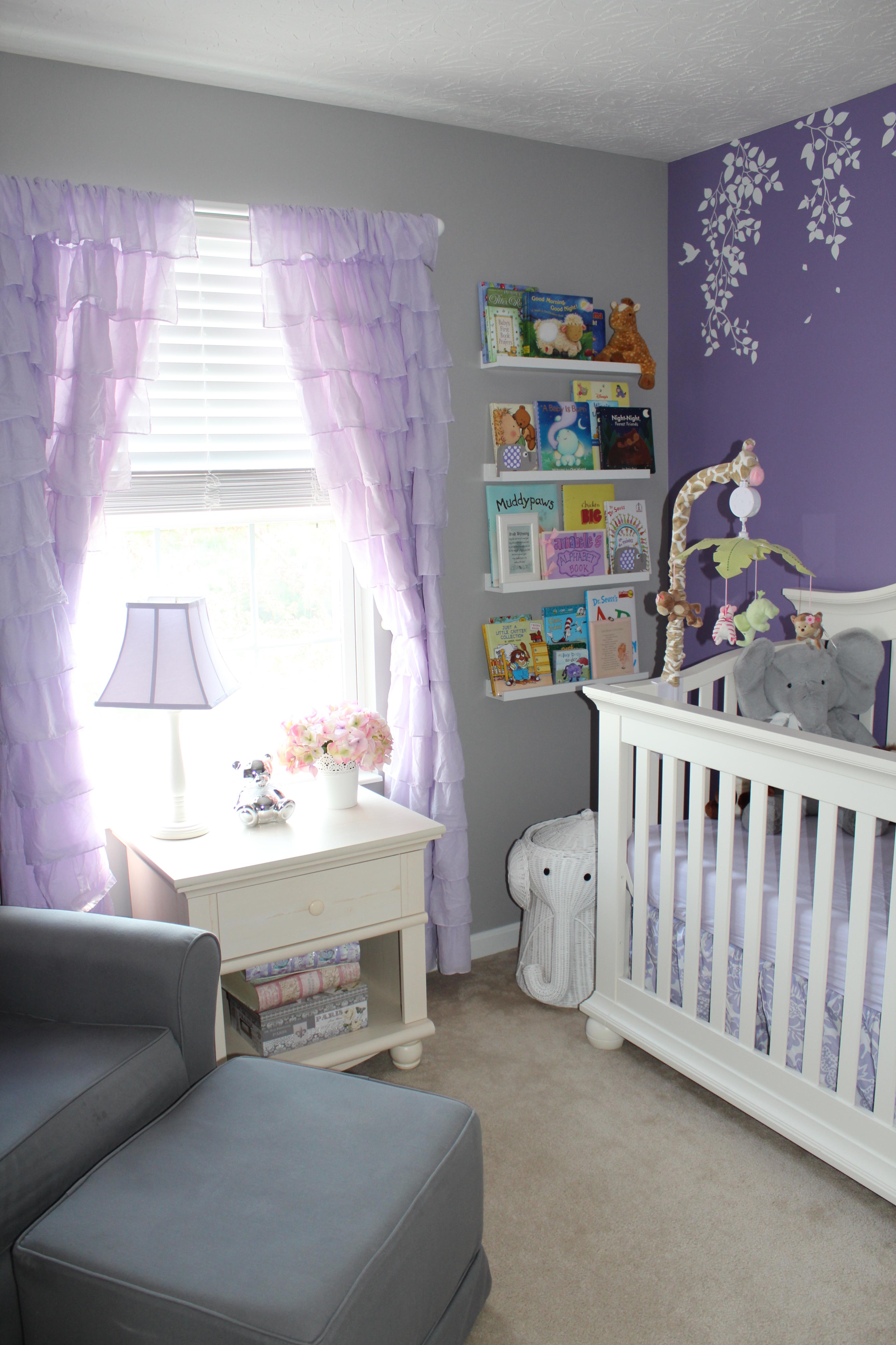 Lavender Girl Nursery Room View
