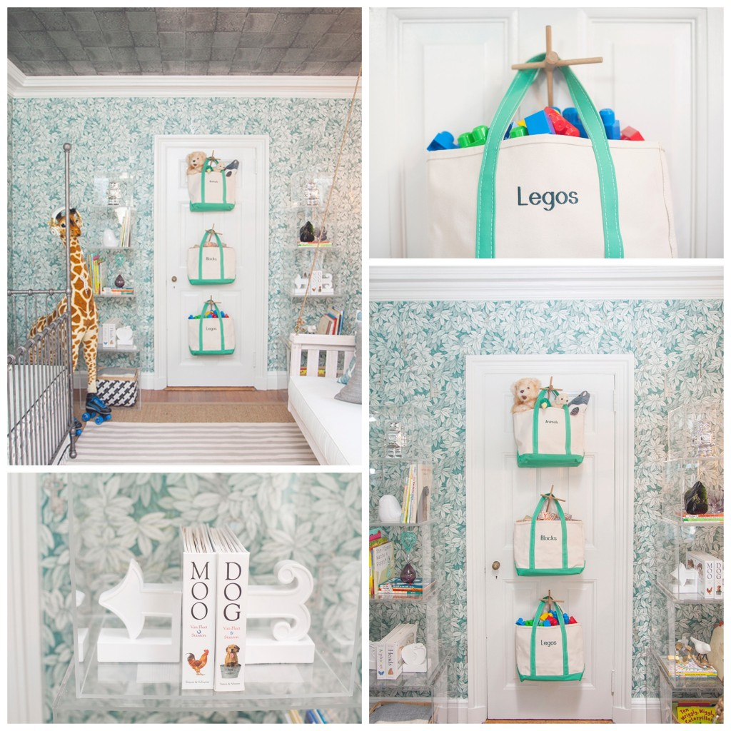 Chic and Sophisticated Nursery Storage Collage