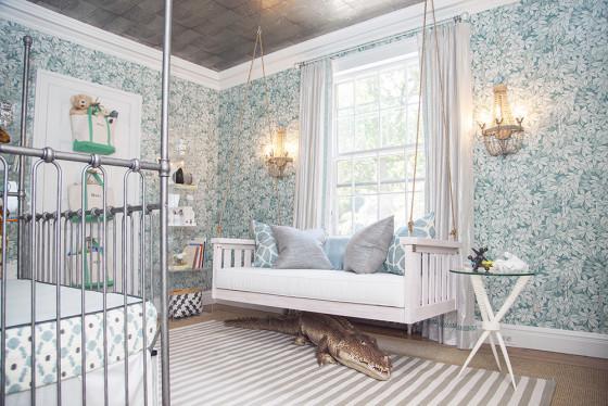 Blue Wallpaper and Wild Animal Nursery - Project Nursery