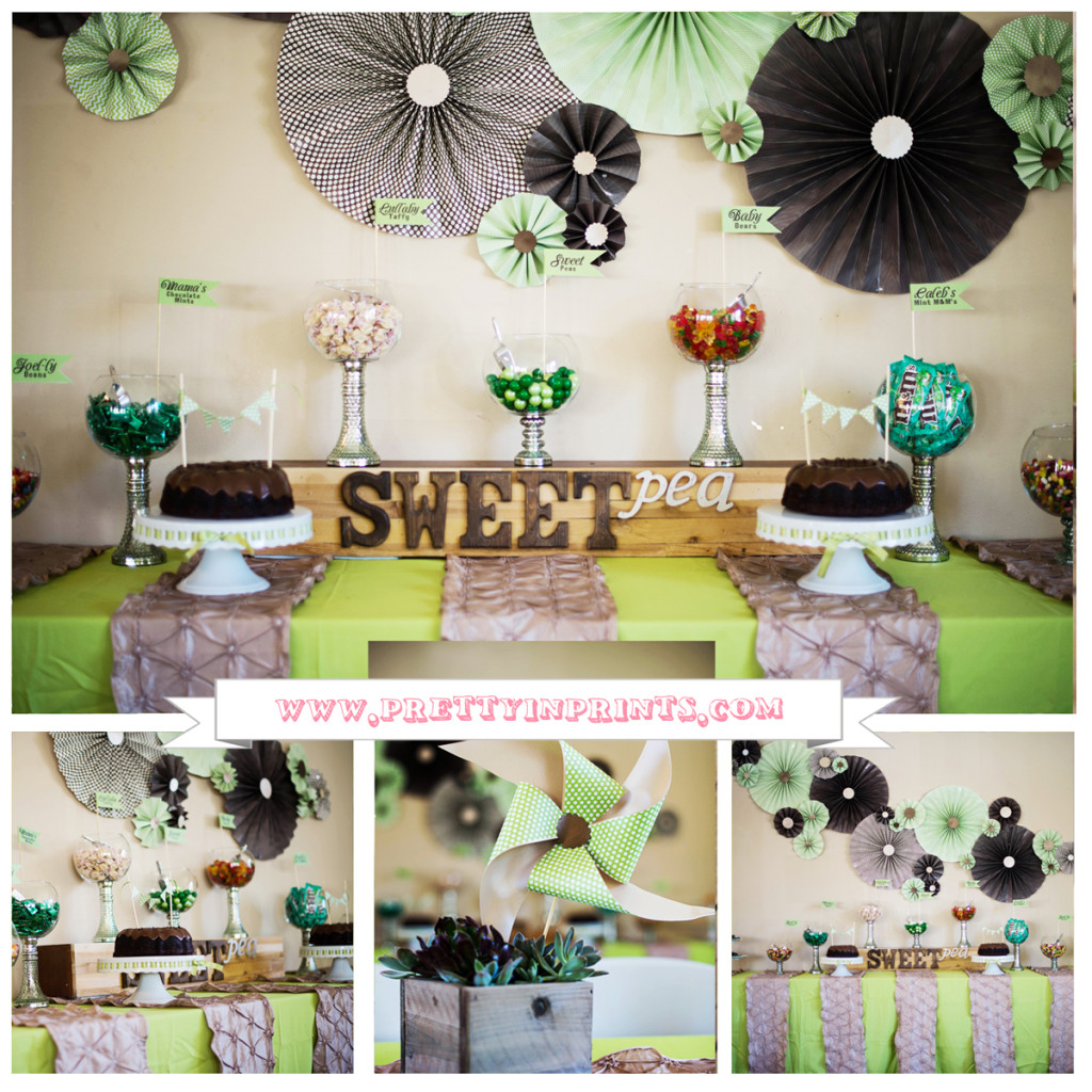 Sweet Pea Baby Shower Collage