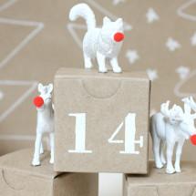 DIY Advent Calendar with Plastic Animals
