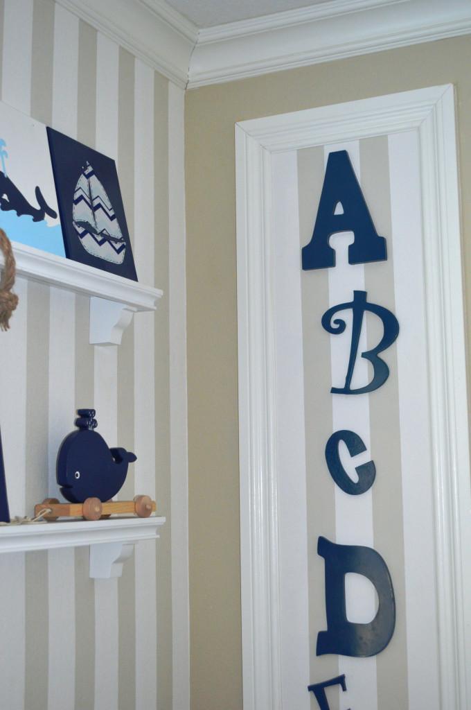 Navy Blue Nursery Alphabet Letters