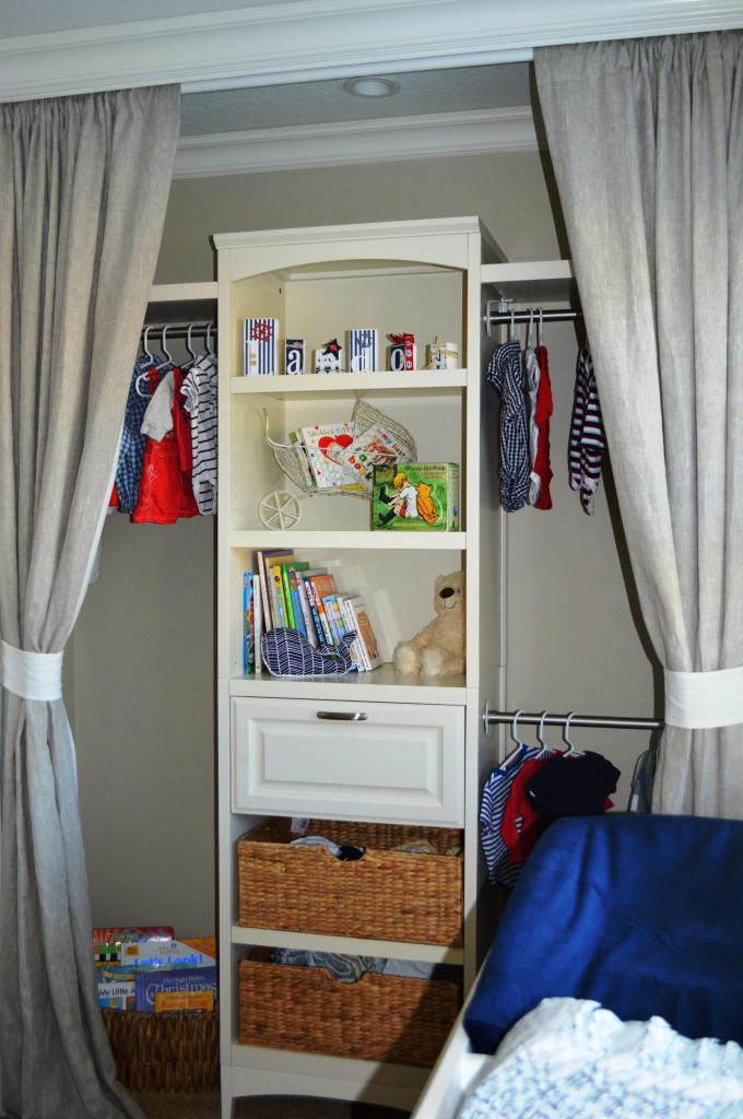 White Wood Custom Closet Organizer