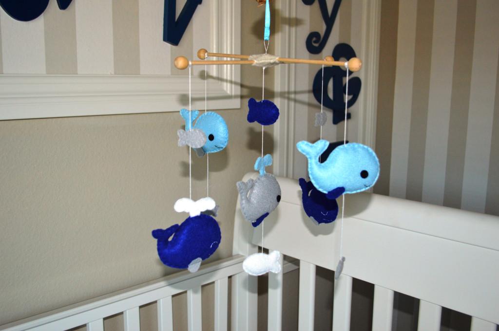 Whale Nursery Mobile