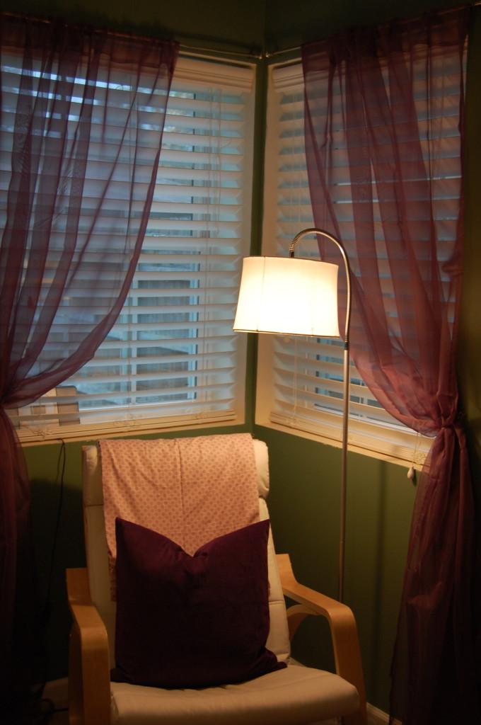 Sheer Purple Curtains