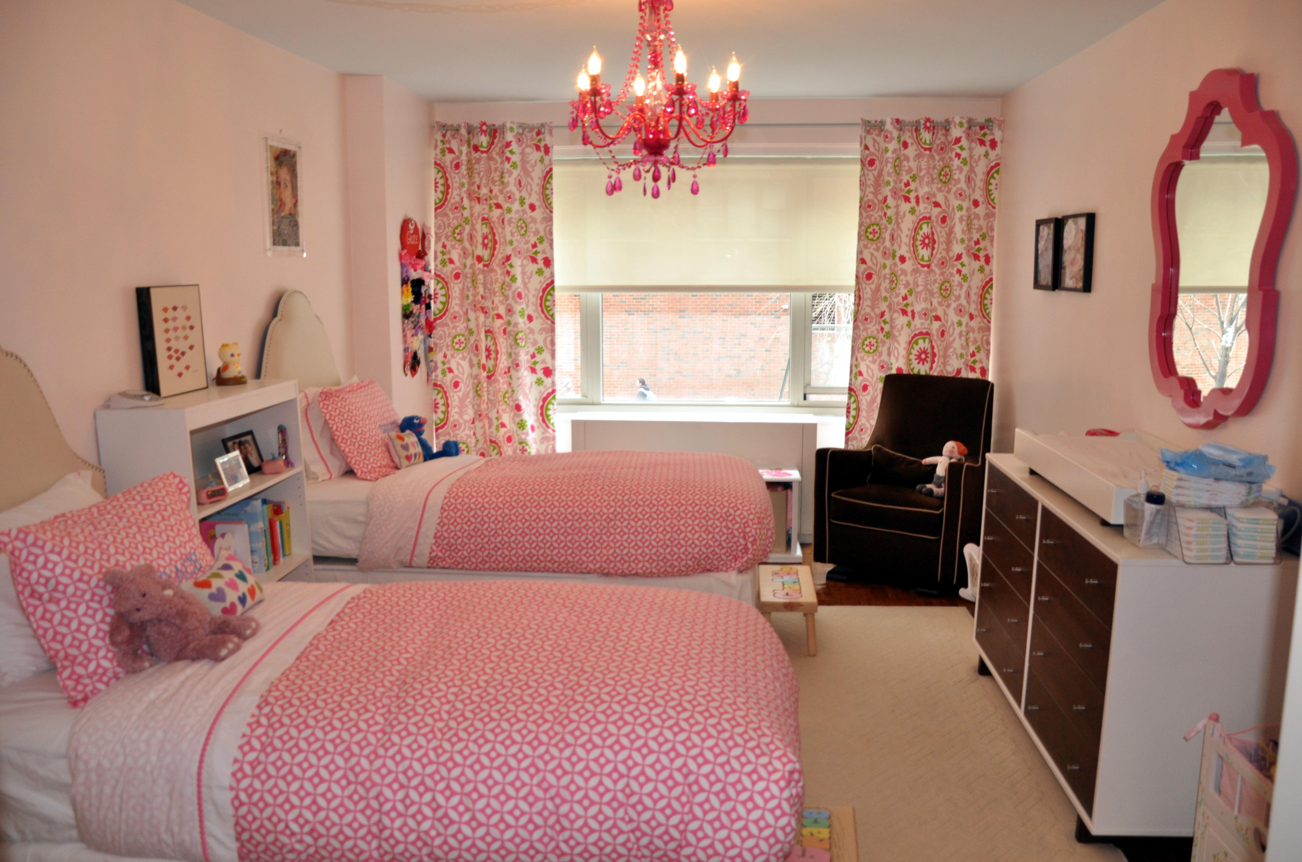 Little Girls Shared Pink Bedroom Project Nursery