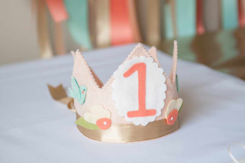 Felt First Birthday Crown