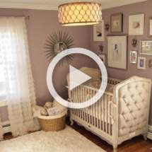Glamorous Gray and Purple Nursery