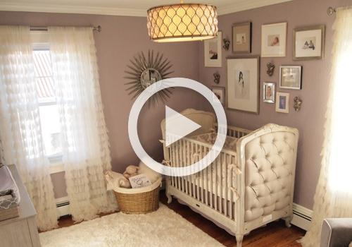 room tour glamorous gray and purple nursery project nursery. Black Bedroom Furniture Sets. Home Design Ideas