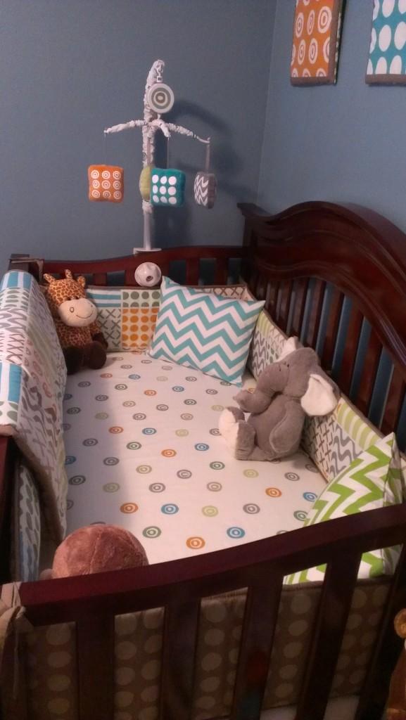 Sumersault Doodles Crib Bedding
