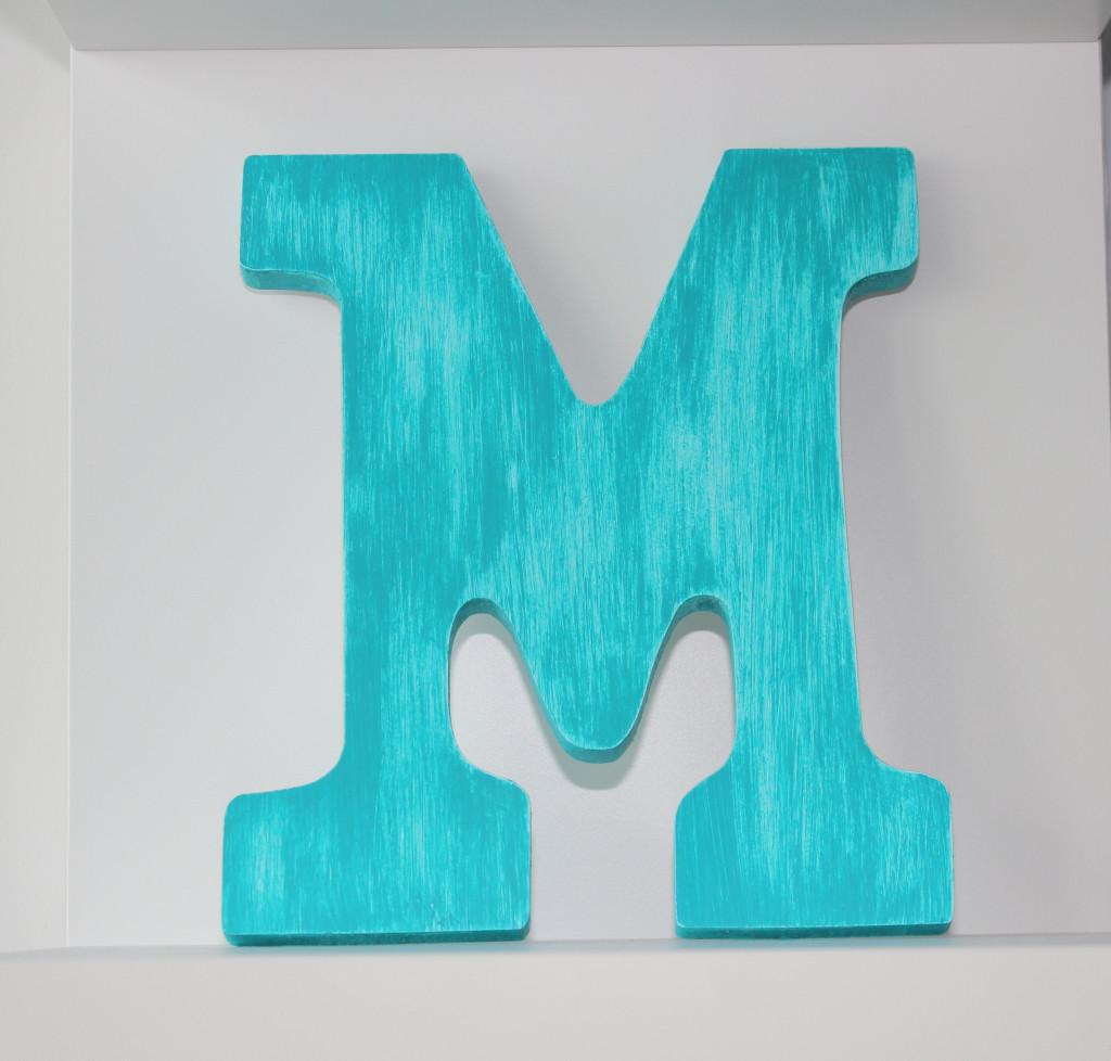 Baby Nursery Aqua Letter Art