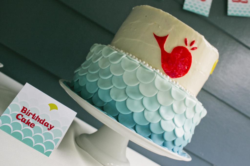 Whale 1st Birthday Cake