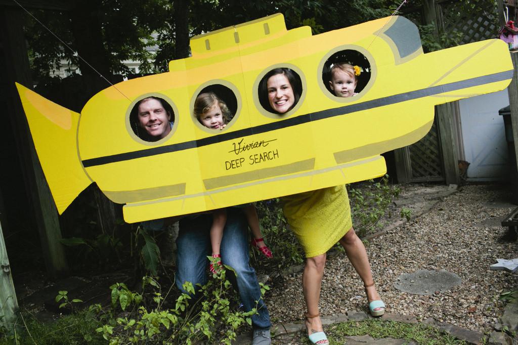 Cardboard Submarine Photo-Shoot Prop