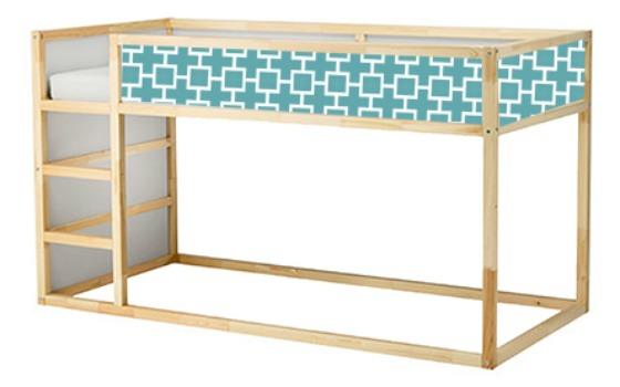 Customized KURA Bed with Vinyl Panel - Project Nursery