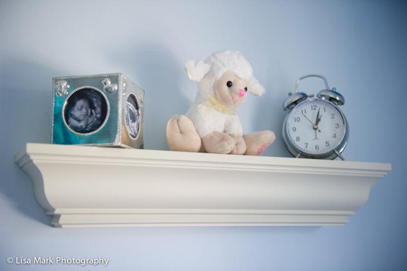Faux Silver Alarm Clock