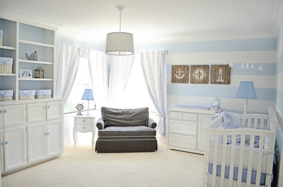 Light Blue Nautical Nursery - Project Nursery