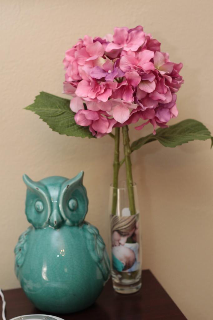 Aqua Owl Statue