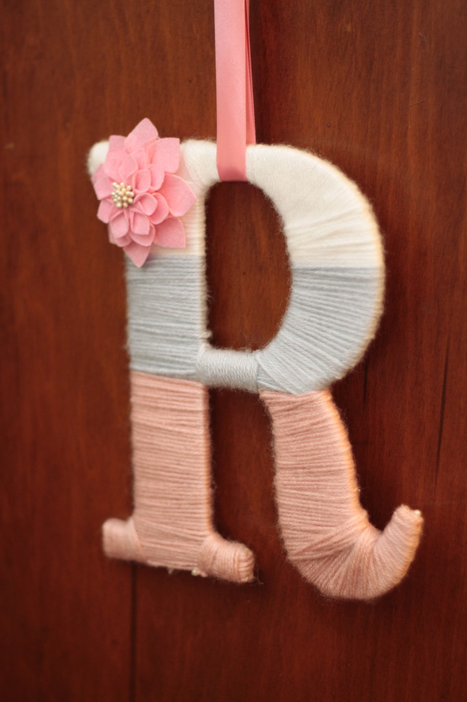 Personalized Yarn Letter