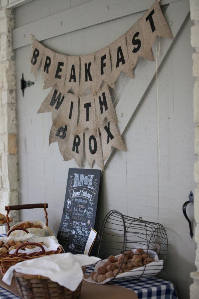 Breakfast with Brox Burlap Banner