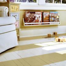 Striped Floor in Nursery