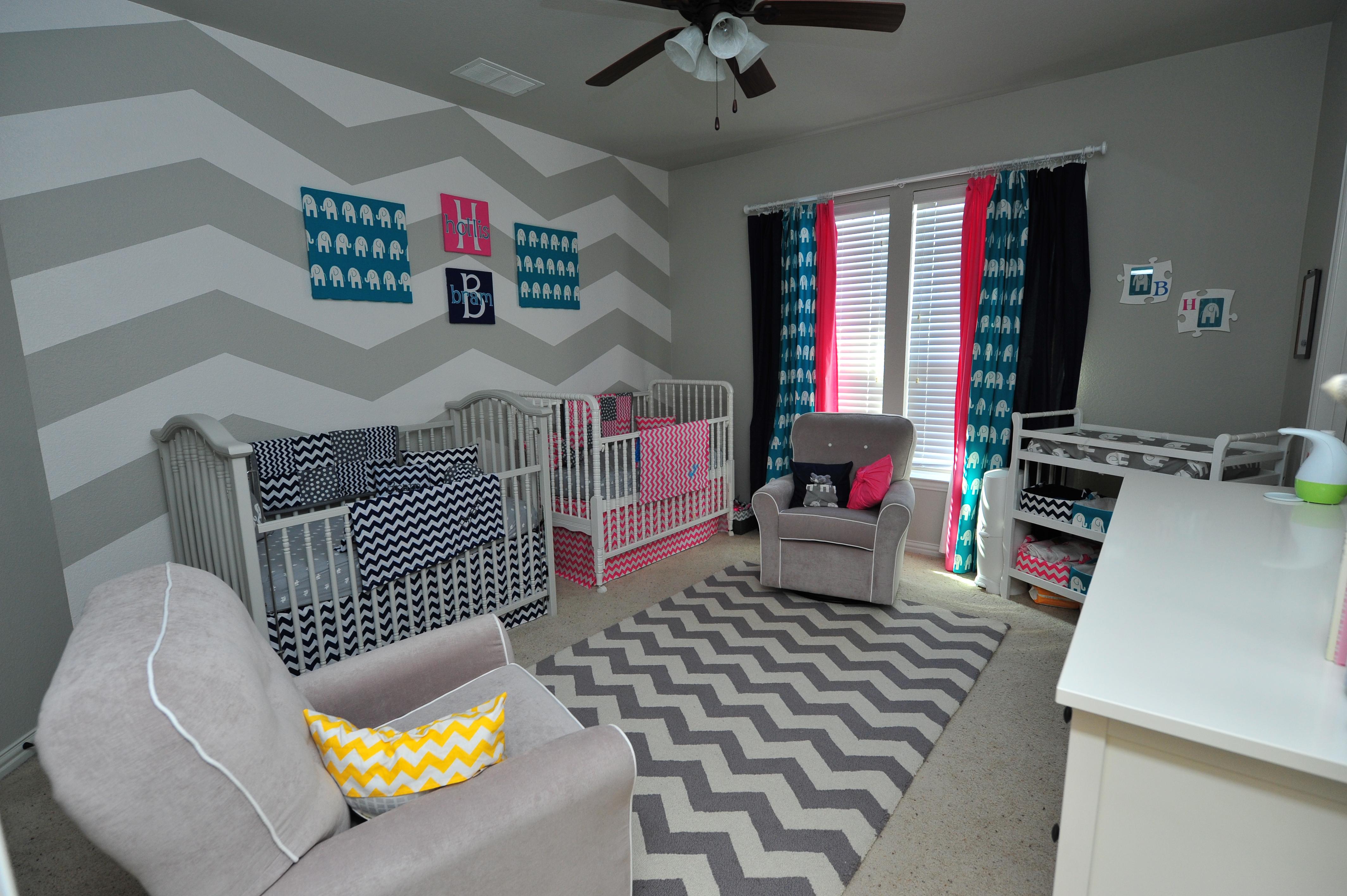 Grey and White Chevron Nursery