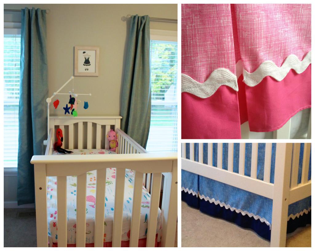 Nautical nursery curtains - Twin Nautical Nursery