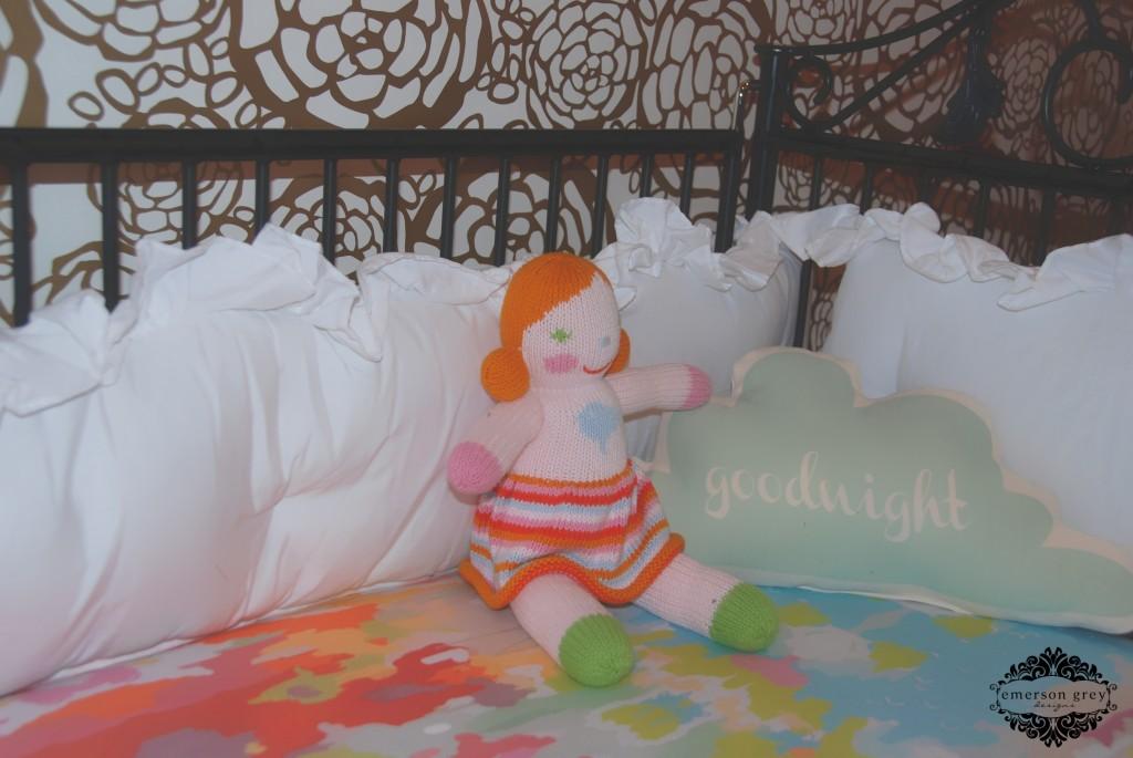 White Ruffle Crib Bumper
