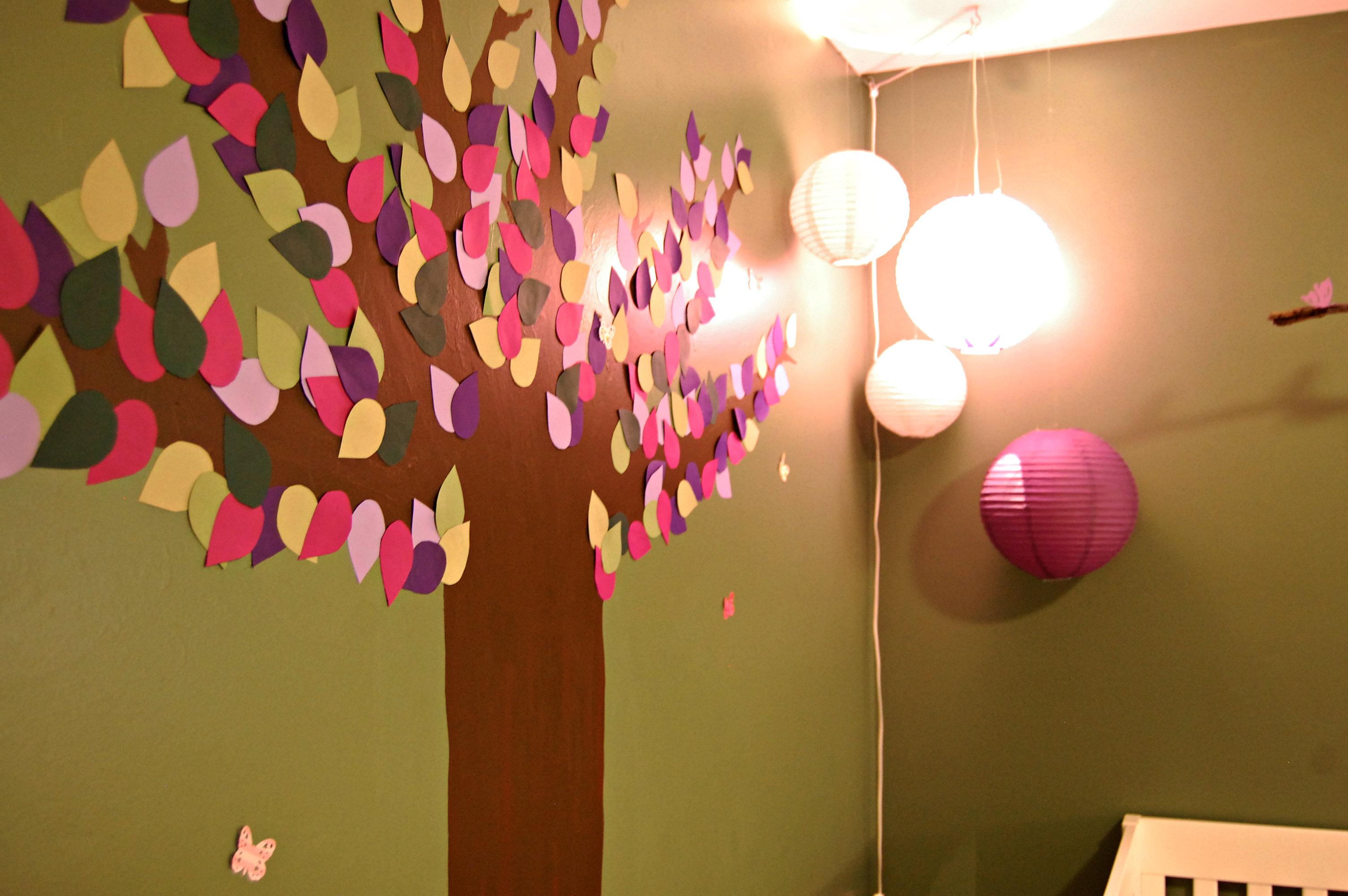 DIY Tree Mural for Baby Nursery