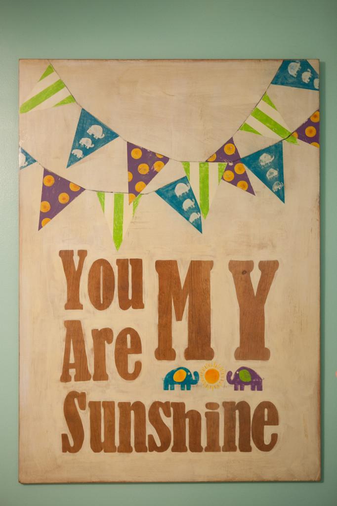 "Custom ""You Are My Sunshine"" Artwork"