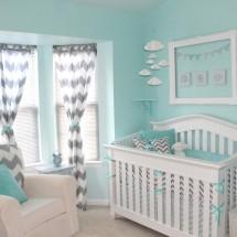 Aqua and Gray Chevron Nursery - Project Nursery