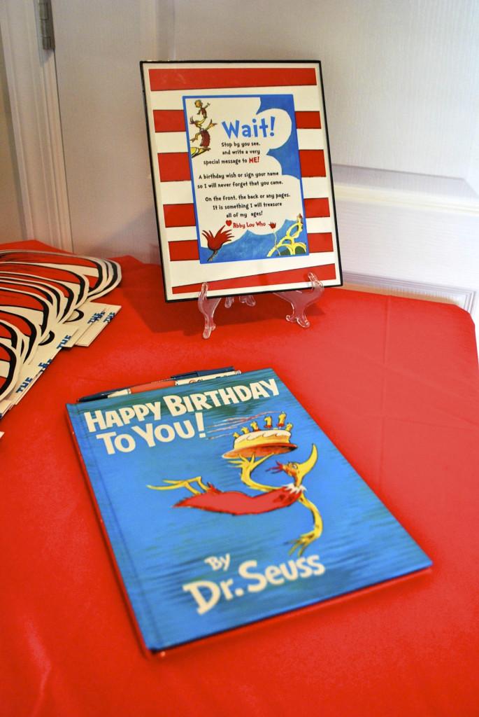 Dr. Seuss Guest Book