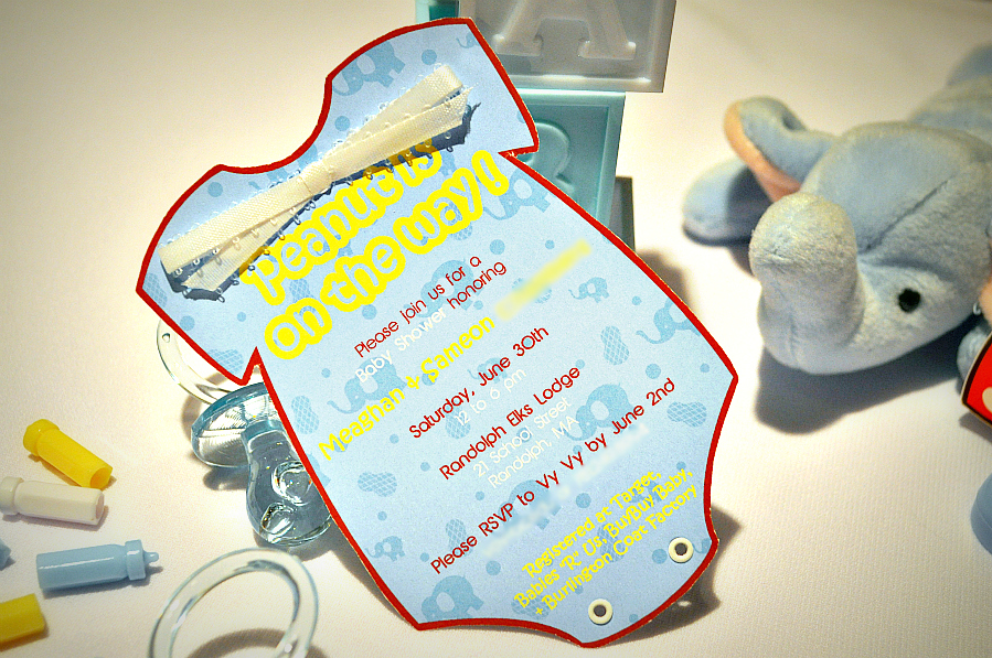 DIY Onesie Invitation