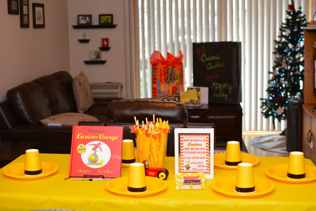 Curious George Table Decor