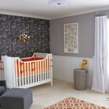 Modern Orange, Gray and White Nursery - Project Nursery
