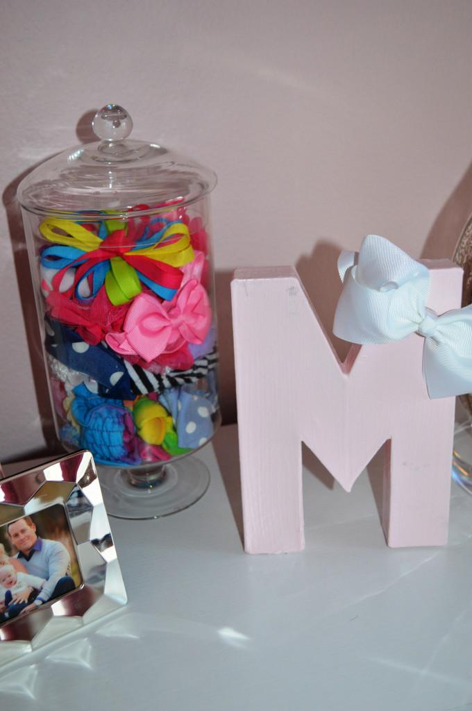 Pink Wood Letter M
