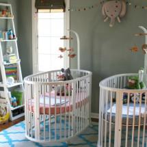 Stokke Sleepi Twin Gray Nursery - Project Nursery