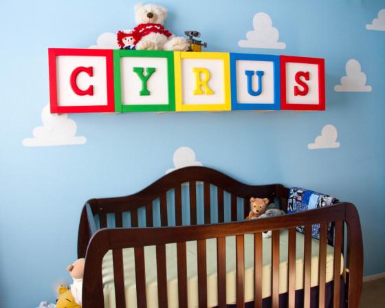 Toy Story Nursery with Oversized Alphabet Blocks - Project Nursery