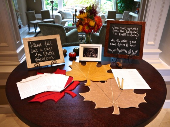 Baby Shower Activities Fall-Themed Baby Shower Guest Book - Project Nursery