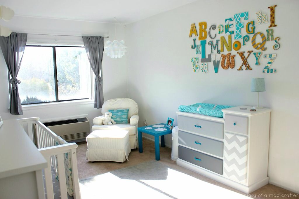 Colorful Alphabet Nursery Wall