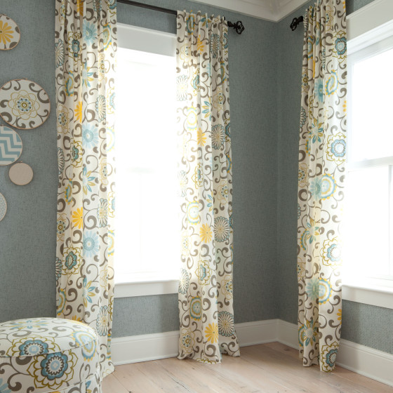 Custom Floral Nursery Drapes from Carousel Designs