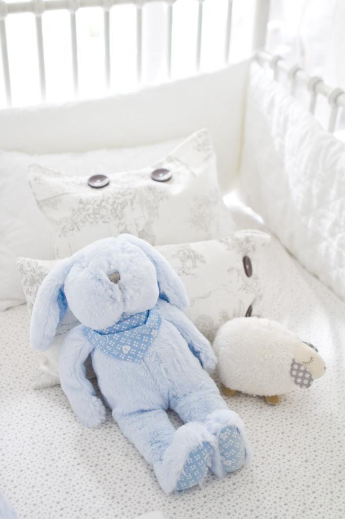 Blue Plush Bunny