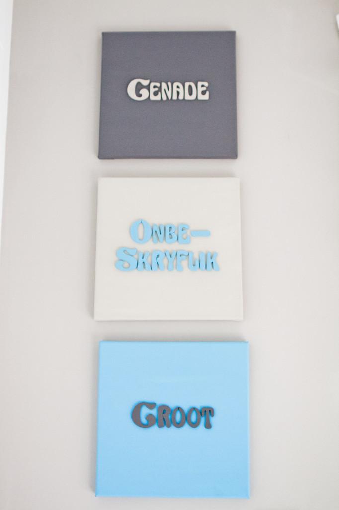 """DIY Amazing Grace Canvas (""""Genade onbeskryflik groot"""" in Afrikaans)"""