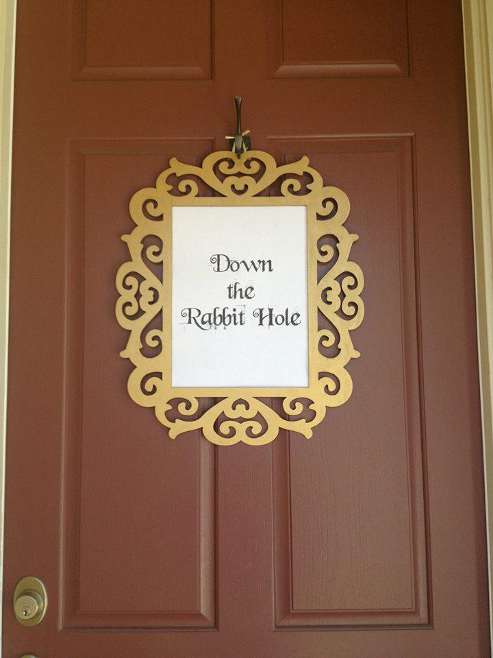 Down the Rabbit Hole Door Sign