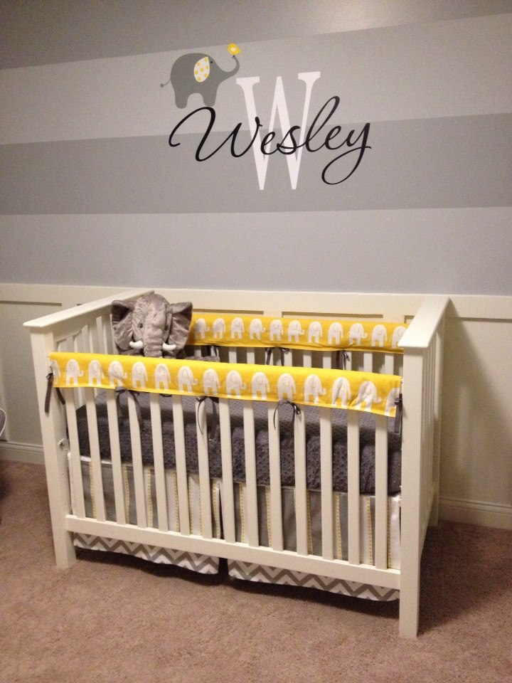 Wesleys Yellow And Gray Elephant Nursery Project Nursery