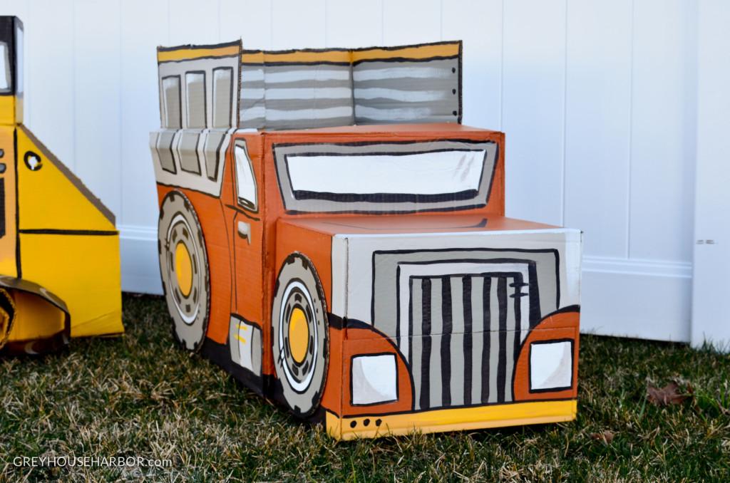 DIY Cardboard Dump Truck