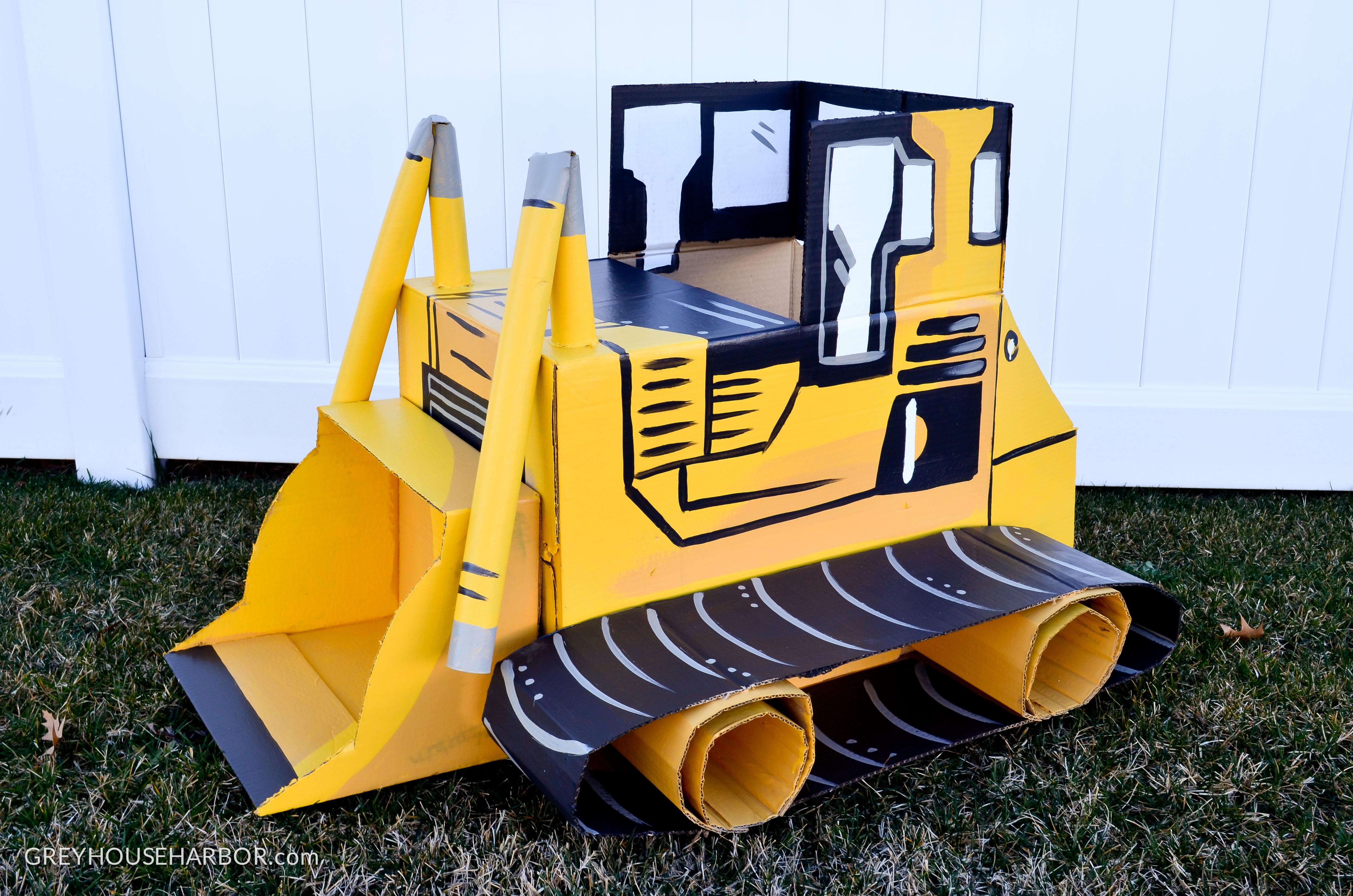 DIY Cardboard Bulldozer