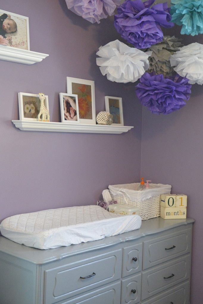 Little Miss A S Purple Grey And Teal Nursery