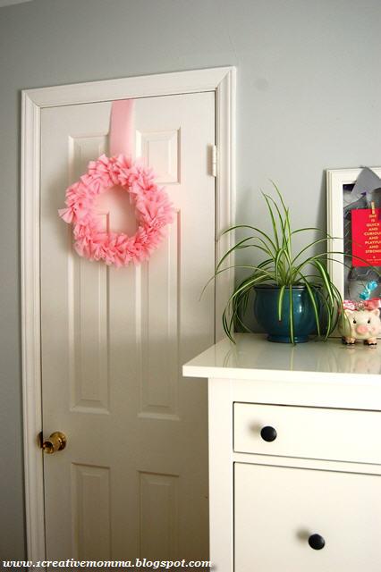 DIY Pink Ruffle Wreath